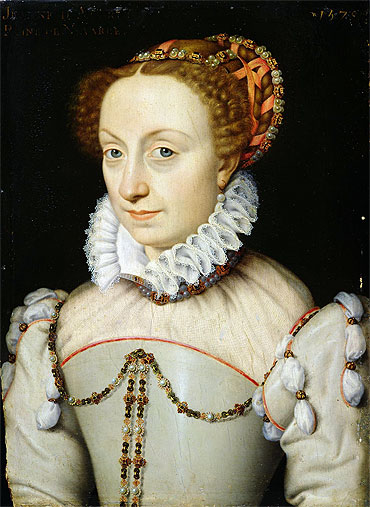 1570 Jeanne d'Albret by François Clouet (Musée Condé, Chantilly France)
