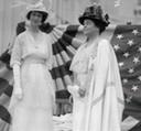 Consuelo, Duchess of Marlborough, and her mother, Alva E. Belmont, pictured here at the Conference of Great Women at Marble House in July 1914