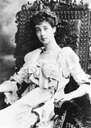 Consuelo Vanderbilt seated in evening dress From theesotericcuriosa.blogspot.com:2012:02:blog-post 5392
