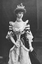 Consuelo Vanderbilt wearing court dress