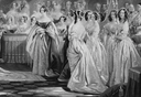 Coronation of Her Majesty Queen Victoria by Charles Edward Wagstaff (1808-1850), after E. T. Parris - outtake showing Ladies
