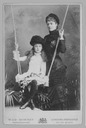 Countess of Dudley and daughter at swing