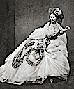 Countess of Castiglione dragging her crinoline skirt by Pierre-Louis Pierson