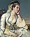 1748 Countess of Coventry after Jean Étienne Liotard print