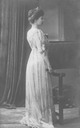Crown Princess Sophie of Greece, née Princess of Prussia standing facing sideways