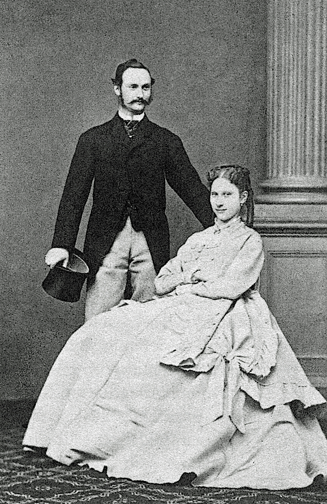 Crown prince Frederick, later Frederick VIII, of Denmark and his princess Louise of Sweden Wm