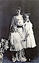 ca. 1904 (based on age of younger child) Crown Princess of Romania with her daughters