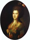 1785 Countess Elizaveta Vasilievna Santi by Fedor Rokotov (Russian Museum, St. Petersburg)