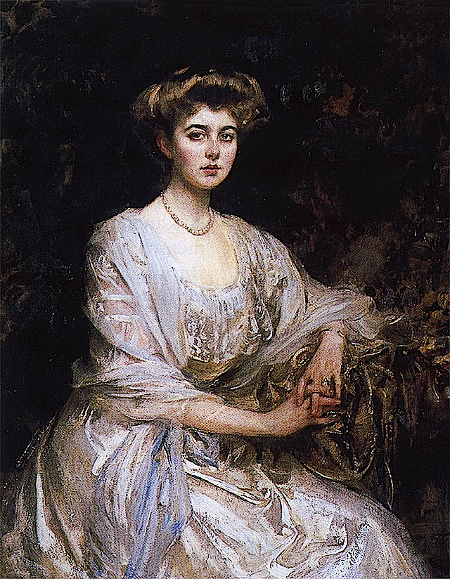 Daisy of Connaught probably by John Singer Sargent (location unknown to gogm) FDxKatyusha 15Nov09 right side of upper edge fixed with Photoshop