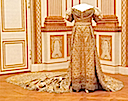 1829 Desideria's coronation dress (Royal Armory, Stockholm Sweden) - front