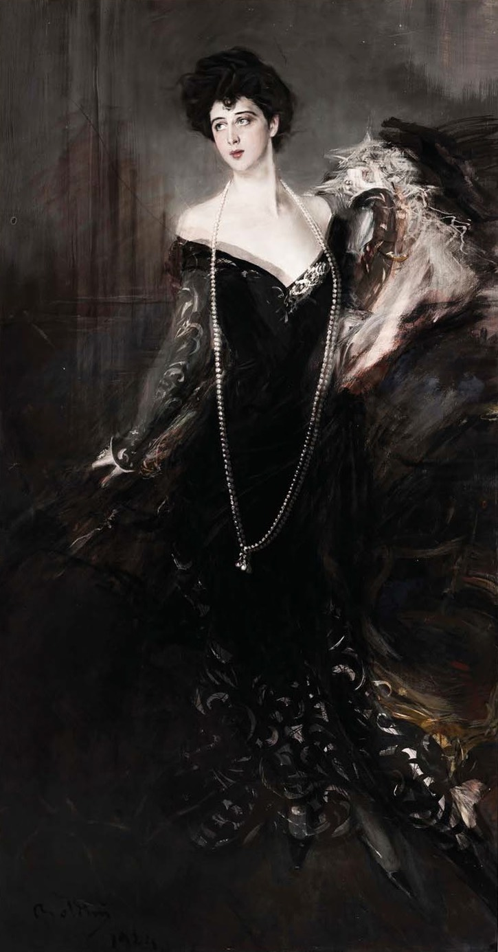 Donna Franca Florio by Giovanni Boldini superposition of 1901 and 1924 versions From artribune