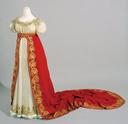 Dress and train worn on the day of Napoléon's coronation