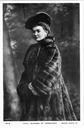 Duchess Luise Margaret of Connaught, née Princess of Prussia wearing a fur coat