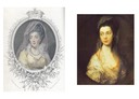 Duchess of Cumberland and 1766 Mrs Christopher Horton, later Anne Duchess Of Cumberland by Thomas Gainsborough (location unknown to gogm) composite