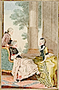 Duchesse de Gramont, Madame de Stainville, and the Count de Biron by Louise Carrogis (Versailles)