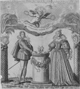 1626 Duke d'Orléans, brother of Louis XIII, and the Duchess of Montpensier, married 2 August by I. Picart (Bibliothèque nationale de France)