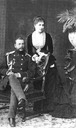 Duke Eugene Maksimilianovich and his second wife Countess Zinaida Dmitrievna Beauharnais From liveinternet.ru:users:3251944:post335405524: detint