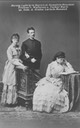 Duke Ludwig Wilhelm in Bavaria with his first wife, Henriette Mendel, Baroness von Wallersee, and their daughter, Countess Marie Larisch von Moennich From flexanderpalace.org:index.php?topic=6737.45 Posted by Rani on 7 Jan 2010 detint