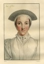 Anne of Cleves after Holbein probably by A. Cardon printed 1828