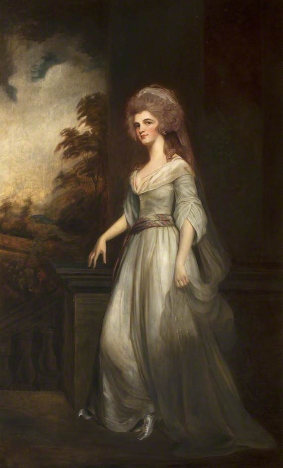 Eleanor (d.1856), Countess of Lauderdale after George Romney (Thirlestane Castle - Lauder, Scottish Borders, UK) bbc.co