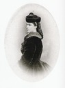 ca. 1865 Empress Elisabeth dressed for the cold by Emil Rabending