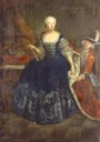 Elisabeth Christine of Brunswick-Bevern (1715-1797), queen of Prussia by Antoine Pesne (location unknown to gogm) Wm filled shadows inc. exp trimmed