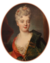 Elisabeth Delpech, marquise de Cailly, probably née Le Fèvre de Caumartin, attributed to Nicolas de Largilliere (Musée Cognacq-Jay - Paris, France) Wm Photo - Sailko size fixed at 50 cm high at 30 pixels/cm