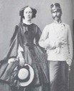 Elisabeth Fransiska with husband Ferdinand Karl