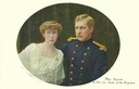 Elisabeth of Belgium colorized oval post card