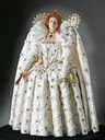 1592 Elizabeth figurine after the Ditchley portrait by George Stuart