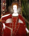 1596 Queen Elizabeth I (1533–1603) and the Cardinal and Theological Virtues by ? (Dover Collections - Dover UK)