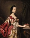Elizabeth Percy, née Seymour Duchess of Northumberland in coronation robes, her right hand resting on her coronet attributed to Sir Joshua Reynolds (auctioned by Christie's)
