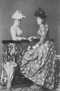 Ella and Grand Princess Alexandra Georgievna, Ella's sister-in-law UPGRADE From teatimeatwinterpalace.tumblr.com:post:110746589712:grand-duchess-elisabeth-feodorovna-with-her