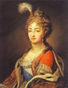 Empress Elizabeth Alexeievna wearing orange vest