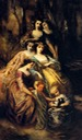 Empress Eugénie and her attendants by Adolphe E. Monticelli (private collection)