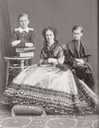 Empress Maria Alexandrovna with her sons Sergei and Pavel