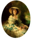 1857 Eugénie, Empress of the French (1826-1920), nee Countess of Montijo de Teba de Guzman in a wide-brimmed hat by Franz Xaver Winterhalter (Hillwood Mueum - Washington DC USA)