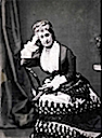 1872 Empress Eugenie resting her head on her hand