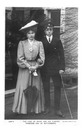 1906 Ena and Alfonso engaged couple