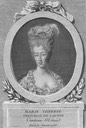 Engraved portrait of Maria Theresa of Savoy by ? (Bibliothèque nationale de France)