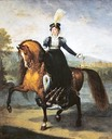 Equestrian portrait of Catherine