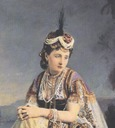 Eugenie as an Asian queen