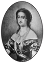 1854 Eugenie by Emile Lassalle after Edouard Louis Dubufe