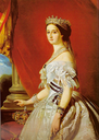 1855 Empress Eugénie in grand dress by Winterhalter studio (Versailles)