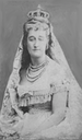 Eugenie wearing a mantilla card by E. Apfert