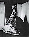 1854 Photo of Empress Eugénie dressed à la Marie Antoinette