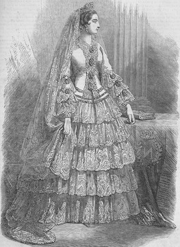 1853 Eugénie's wedding dress bodice