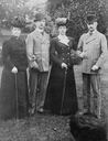 Ex-Empress of Russia Maria Feodorovna, George of Greece, Queen Alexandra of England, and King Frederick VIII of Denmark