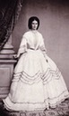 1860 Sisi in polka-dotted crinoline dress