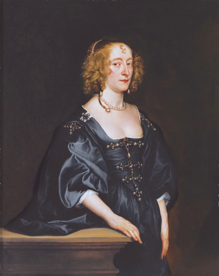 Frances Devereux, by Anthony van Dyck